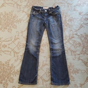 MEK Denim Singapore Distressed Boot Cut Jeans